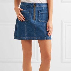 MADEWELL denim zip ring skirt - size 26